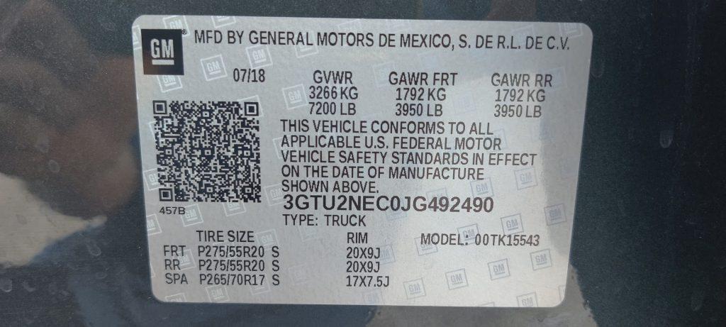 2018 GMC SIERRA 1500 CREW CAB SLT